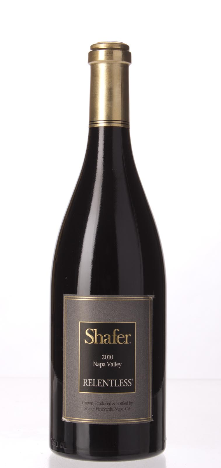 Shafer Syrah Relentless 2010, 750mL (WA97) from The BPW - Merchants of rare and fine wines.