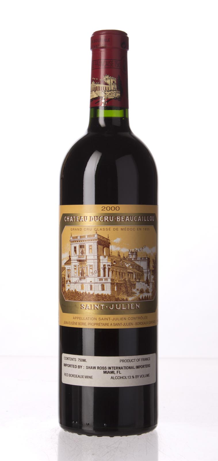 Ducru Beaucaillou 2000, 750mL (WA95, WS95) from The BPW - Merchants of rare and fine wines.