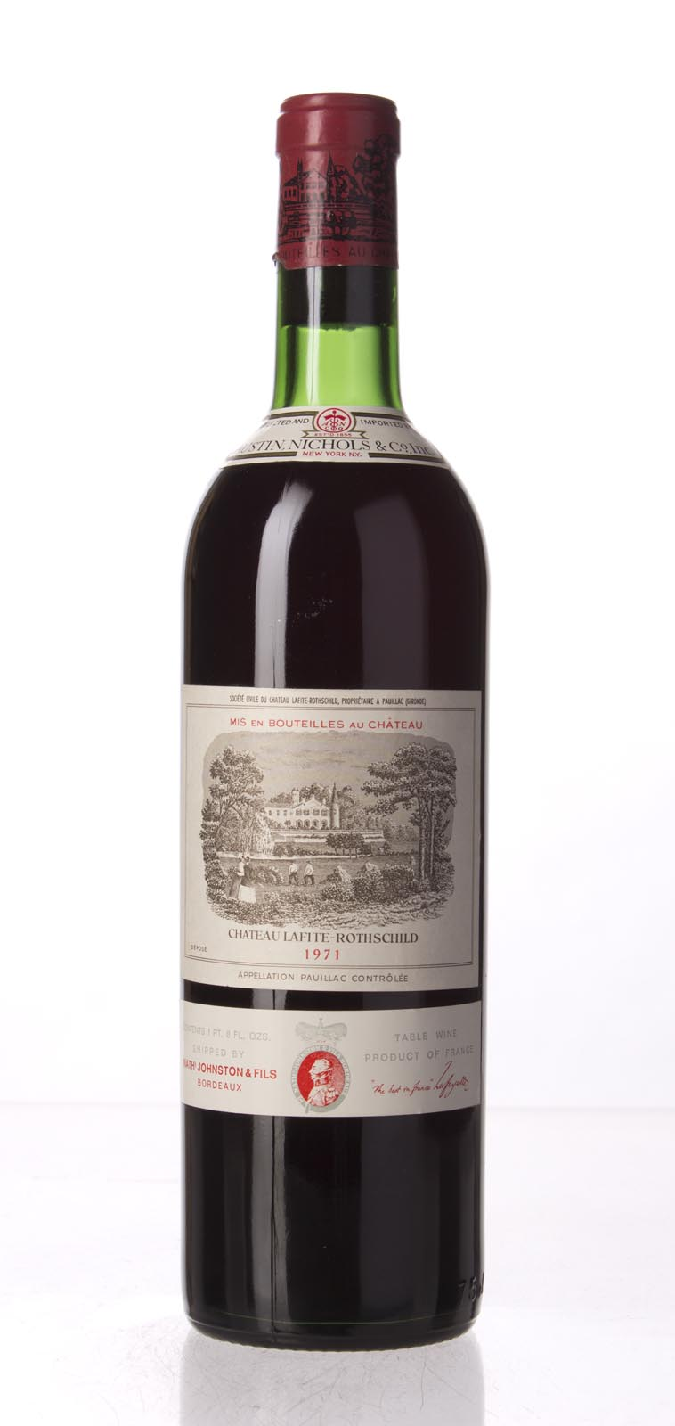 Lafite Rothschild 1971, 750mL () from The BPW - Merchants of rare and fine wines.