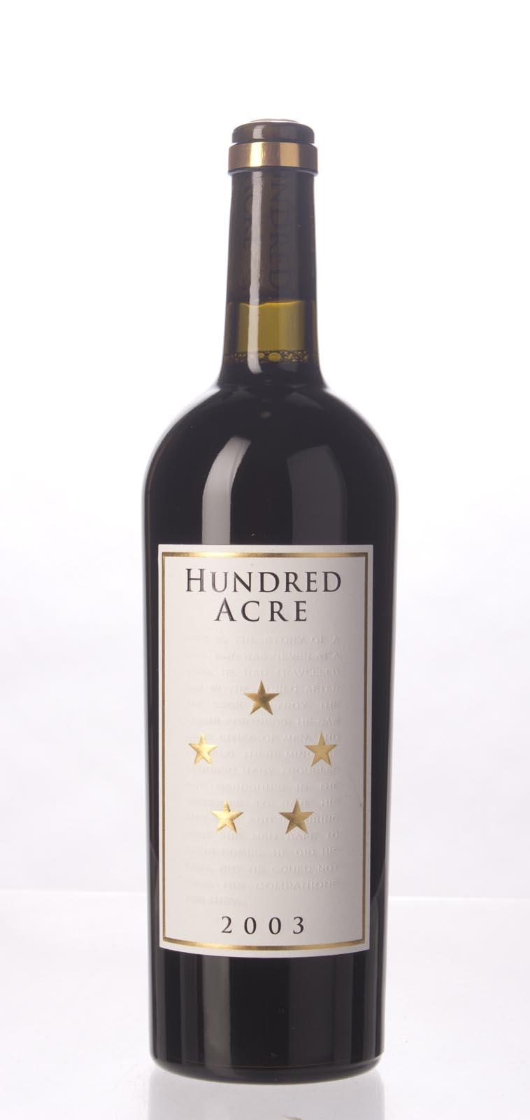 Hundred Acre Vineyard Cabernet Sauvignon Kayli Morgan Vineyard 2003, 750mL (WA98) from The BPW - Merchants of rare and fine wines.