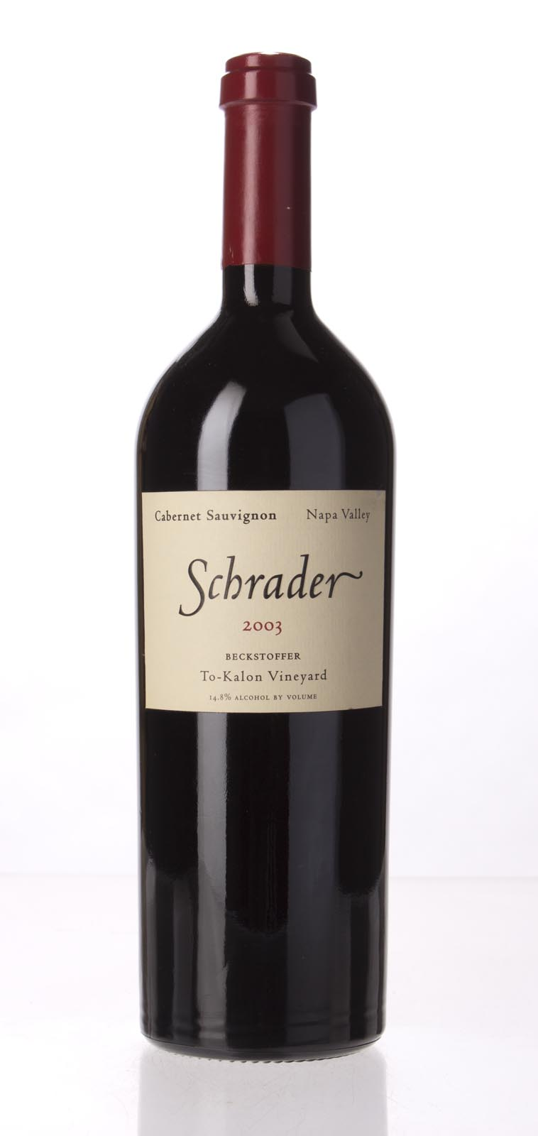 Schrader Cellars Cabernet Sauvignon Beckstoffer To Kalon Vineyard 2003, 750mL (WA99) from The BPW - Merchants of rare and fine wines.