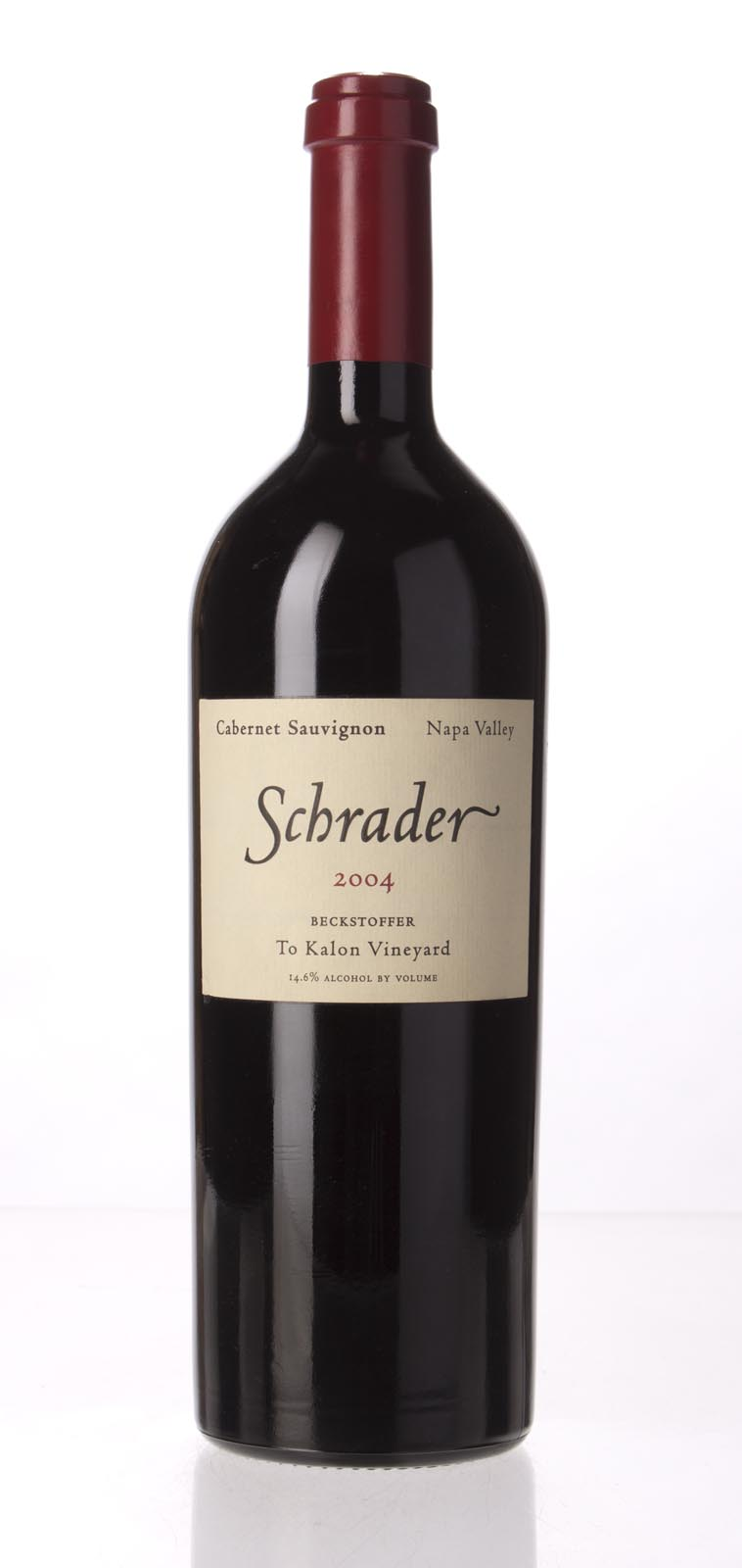 Schrader Cellars Cabernet Sauvignon Beckstoffer To Kalon Vineyard 2004, 750mL (WS97) from The BPW - Merchants of rare and fine wines.