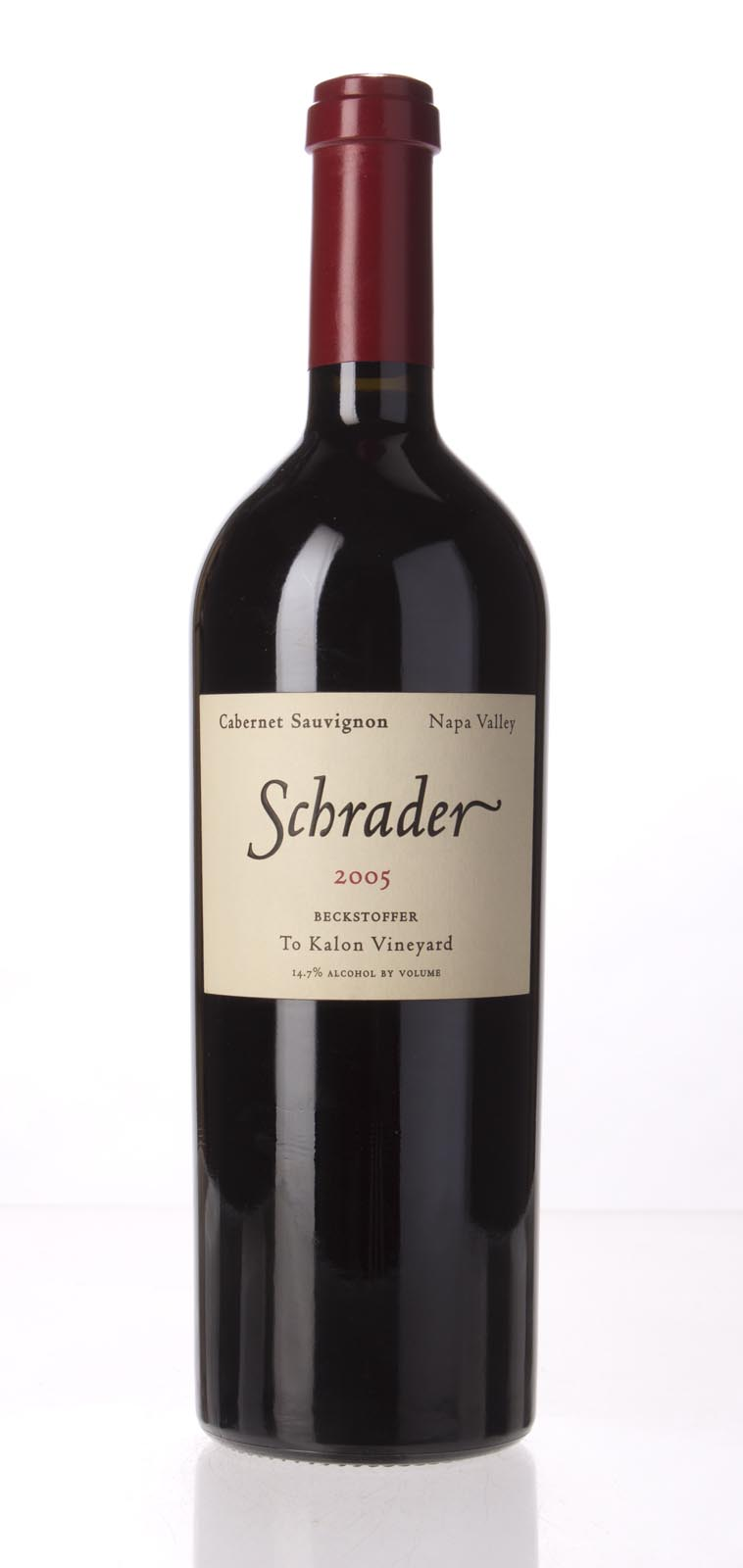 Schrader Cellars Cabernet Sauvignon Beckstoffer To Kalon Vineyard 2005, 750mL (WS94) from The BPW - Merchants of rare and fine wines.