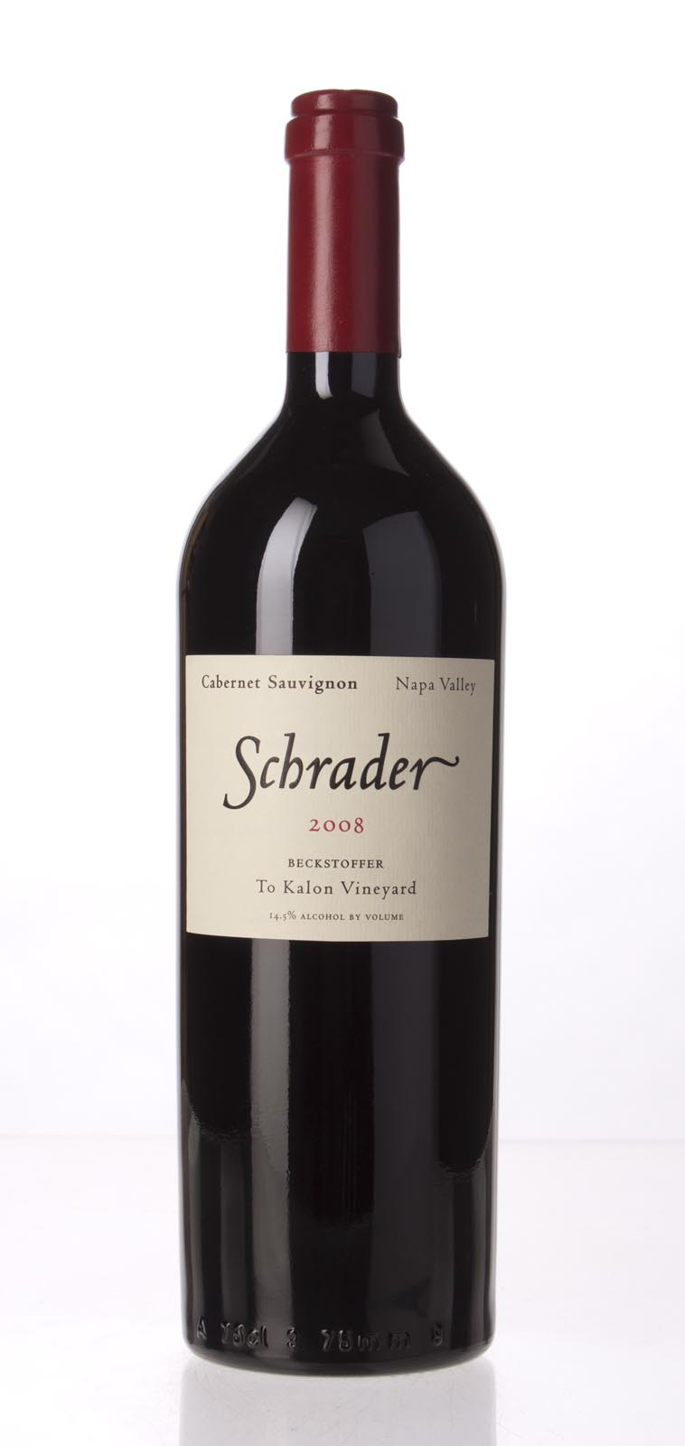Schrader Cellars Cabernet Sauvignon Beckstoffer To Kalon Vineyard 2008, 750mL (WA98+, WS98) from The BPW - Merchants of rare and fine wines.