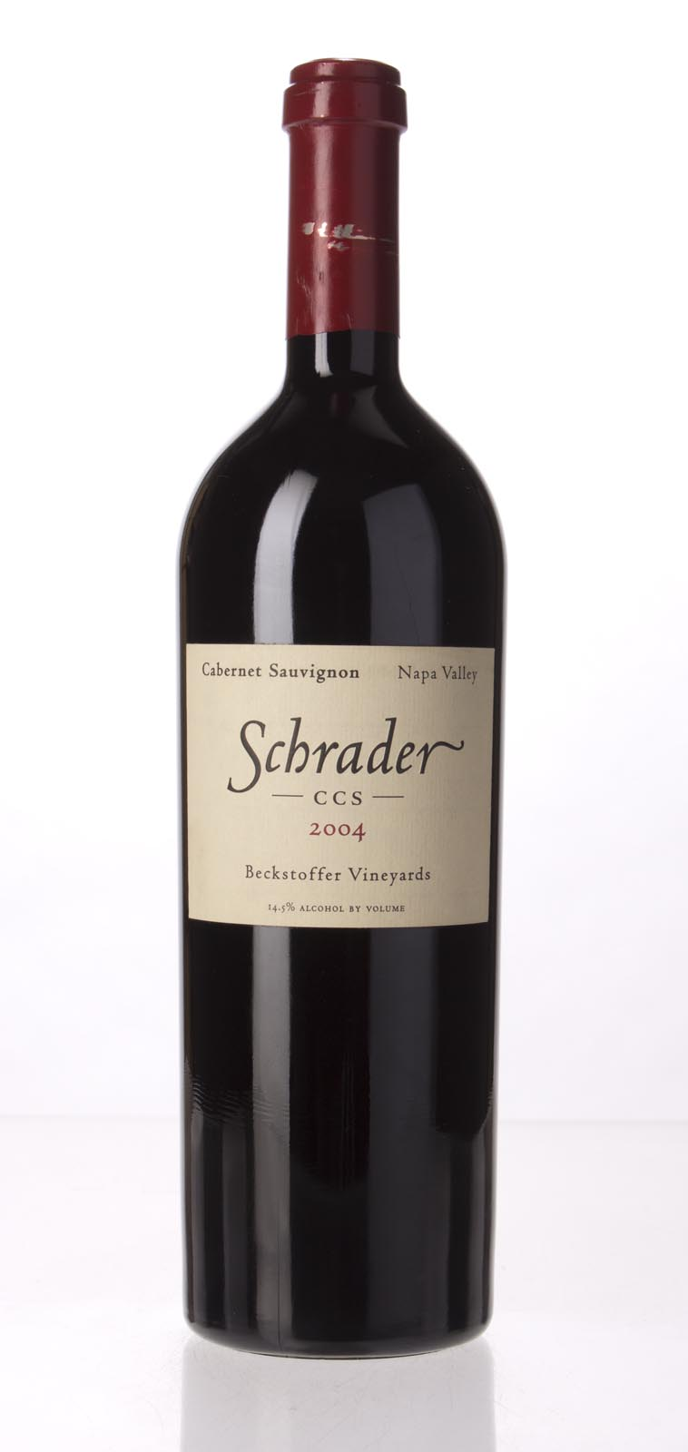 Schrader Cellars Cabernet Sauvignon Beckstoffer To Kalon Vineyard CCS 2004, 750mL (WS97) from The BPW - Merchants of rare and fine wines.