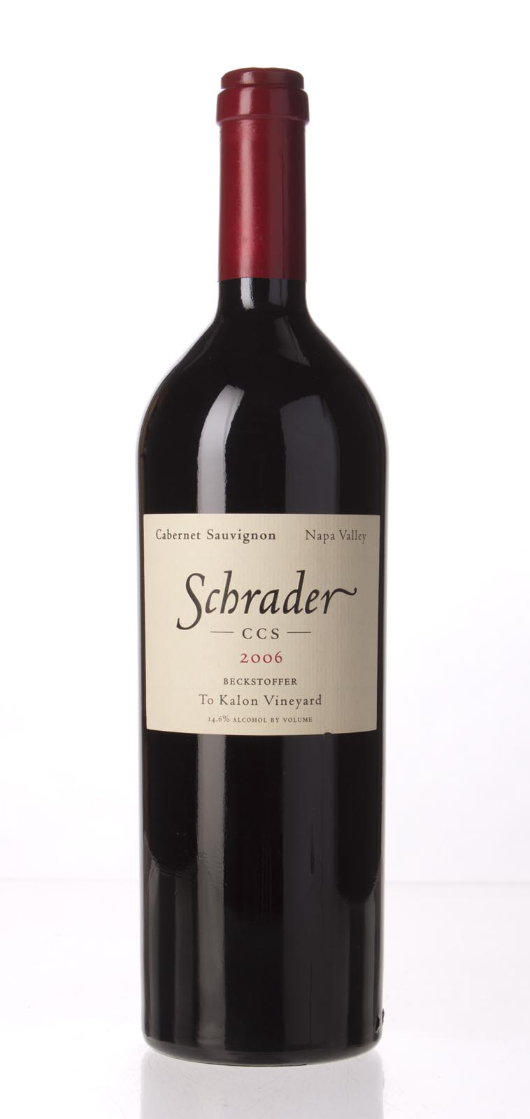 Schrader Cellars Cabernet Sauvignon Beckstoffer To Kalon Vineyard CCS 2006, 750mL (WA100) from The BPW - Merchants of rare and fine wines.
