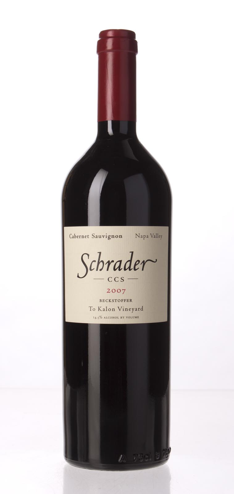 Schrader Cellars Cabernet Sauvignon Beckstoffer To Kalon Vineyard CCS 2007, 750mL (WA100, WS100) from The BPW - Merchants of rare and fine wines.