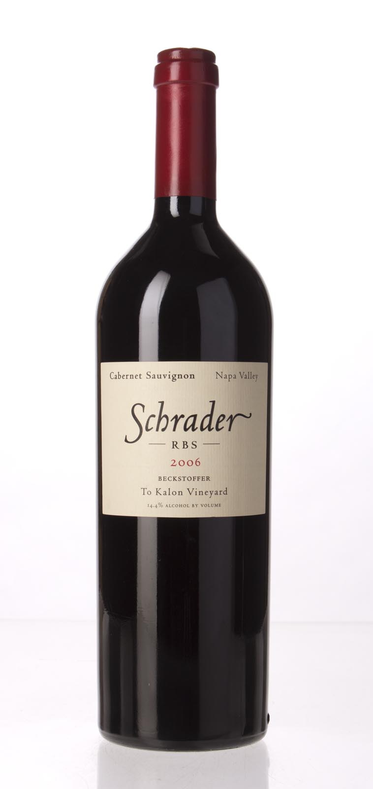 Schrader Cellars Cabernet Sauvignon Beckstoffer To Kalon Vineyard RBS 2006, 750mL (WA99) from The BPW - Merchants of rare and fine wines.