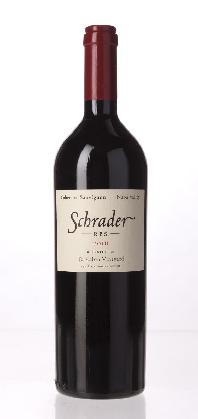 Schrader Cellars Cabernet Sauvignon Beckstoffer To Kalon Vineyard RBS 2010, 750mL (WA99) from The BPW - Merchants of rare and fine wines.
