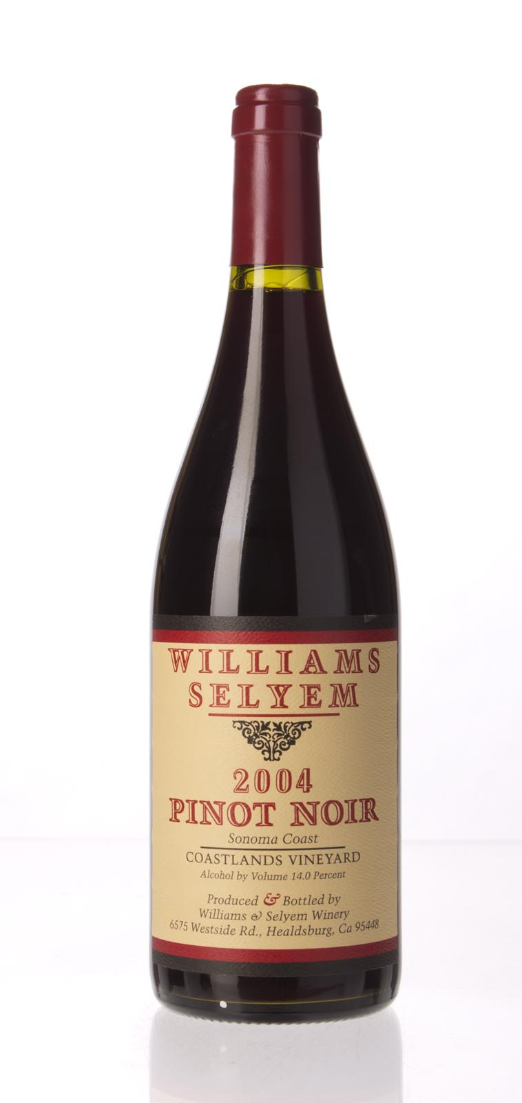 Williams Selyem Pinot Noir Coastlands Vineyard 2004, 750mL (WA91, ST92+) from The BPW - Merchants of rare and fine wines.