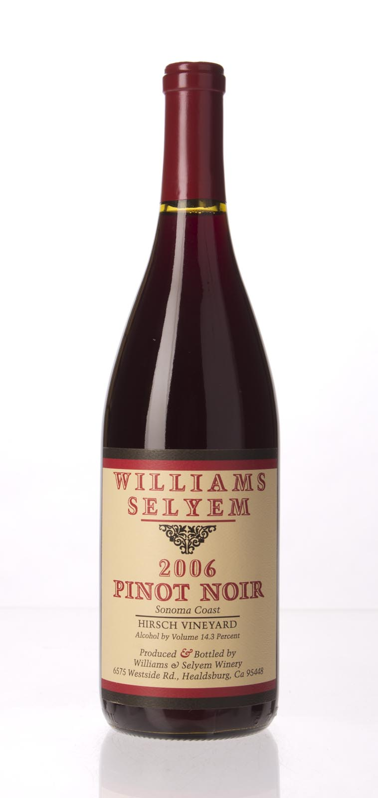Williams Selyem Pinot Noir Hirsch Vineyard 2006, 750mL (ST92+) from The BPW - Merchants of rare and fine wines.