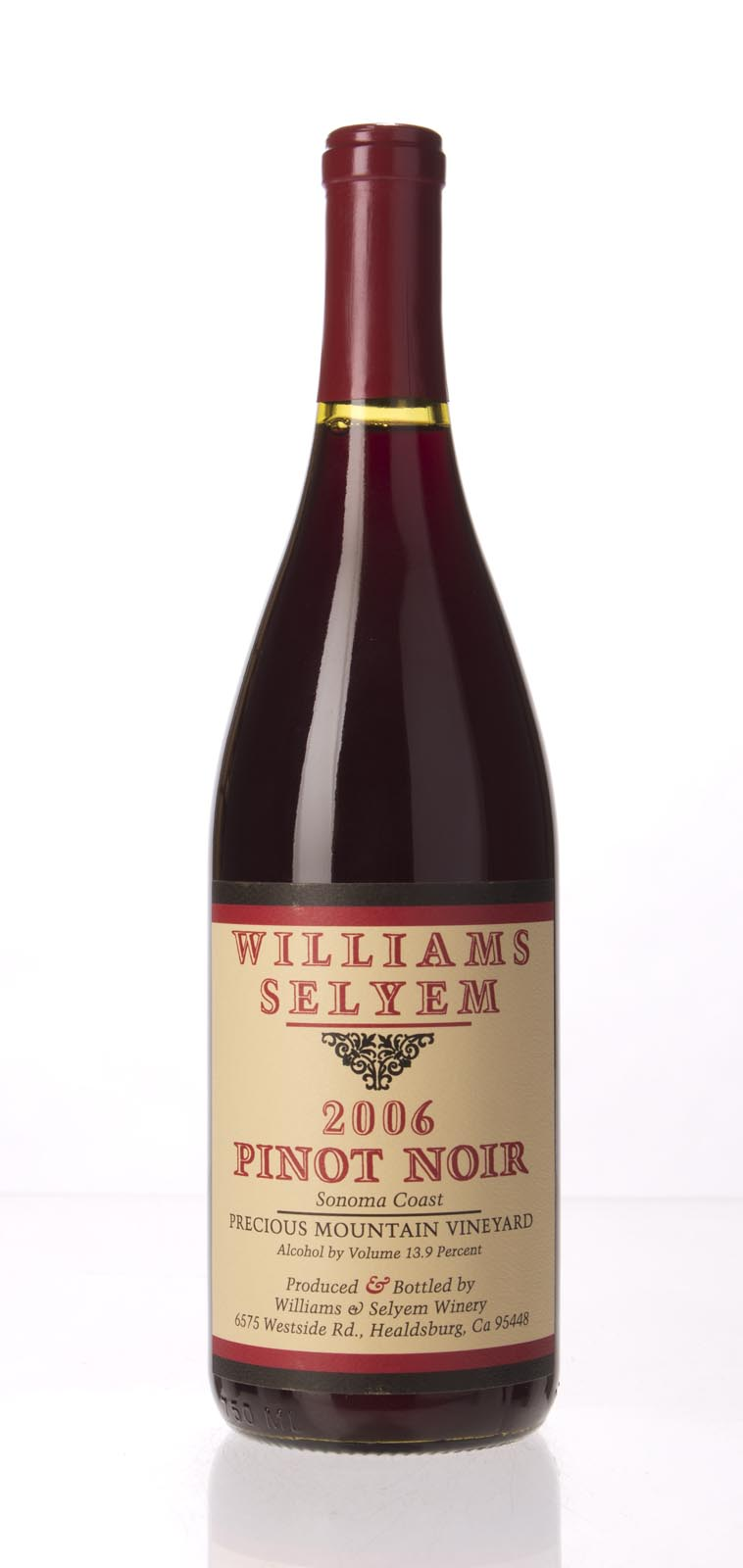 Williams Selyem Pinot Noir Precious Mountain Vineyard 2006, 750mL (ST94) from The BPW - Merchants of rare and fine wines.