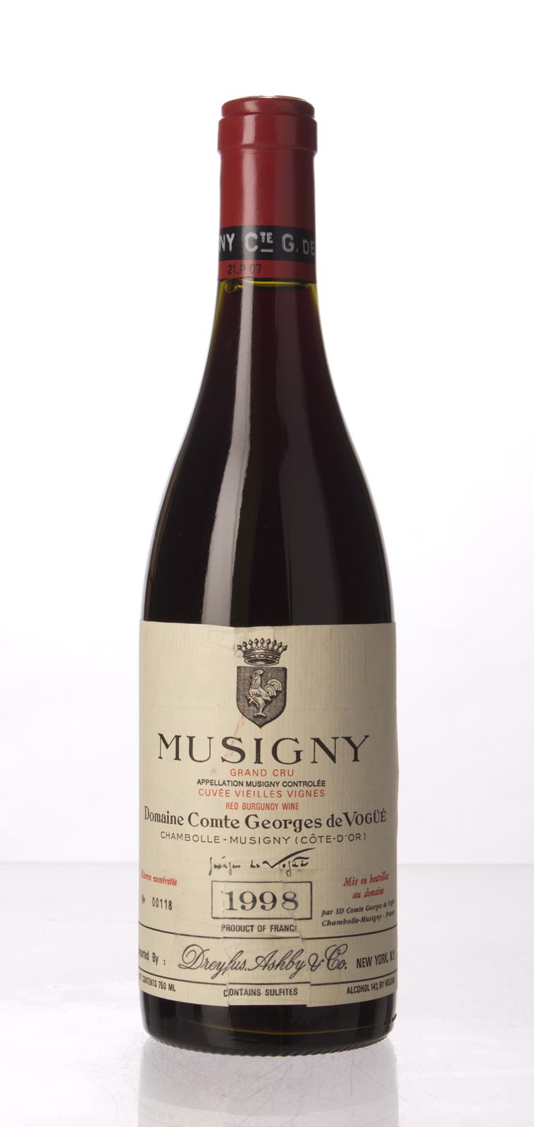 Comte de Vogue Musigny Vieilles Vignes 1998, 750mL (BH95, ST95) from The BPW - Merchants of rare and fine wines.