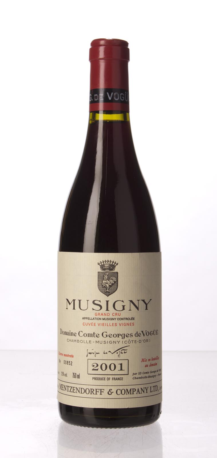 Comte de Vogue Musigny Vieilles Vignes 2001, 750mL (BH96, WA94-96, ST95) from The BPW - Merchants of rare and fine wines.