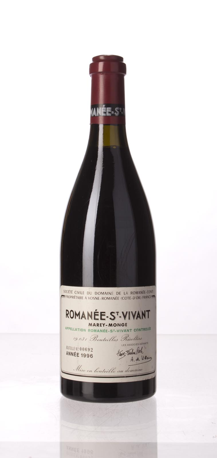 Domaine de La Romanee Conti Romanee St. Vivant 1996, 750mL (WS95) from The BPW - Merchants of rare and fine wines.