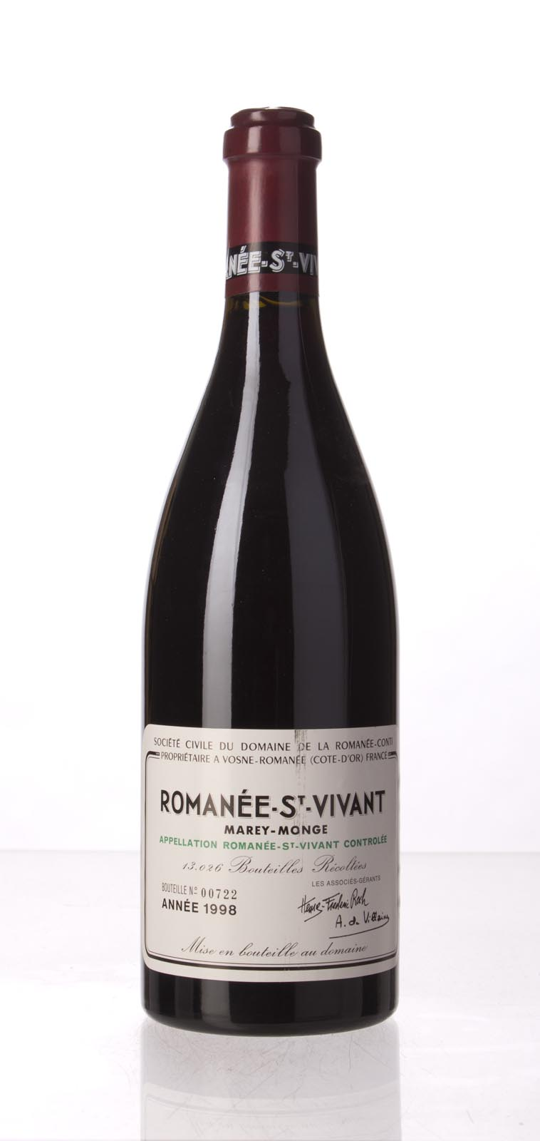 Domaine de La Romanee Conti Romanee St. Vivant 1998, 750mL () from The BPW - Merchants of rare and fine wines.