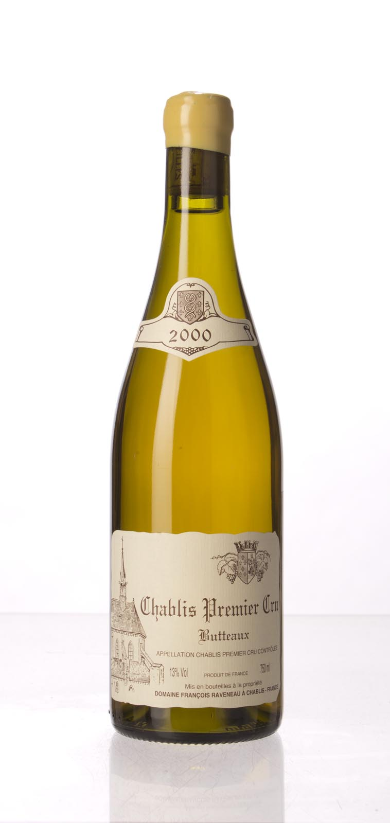 Domaine Francois Raveneau Chablis les Butteaux 2000, 750mL (BH92, ST91) from The BPW - Merchants of rare and fine wines.