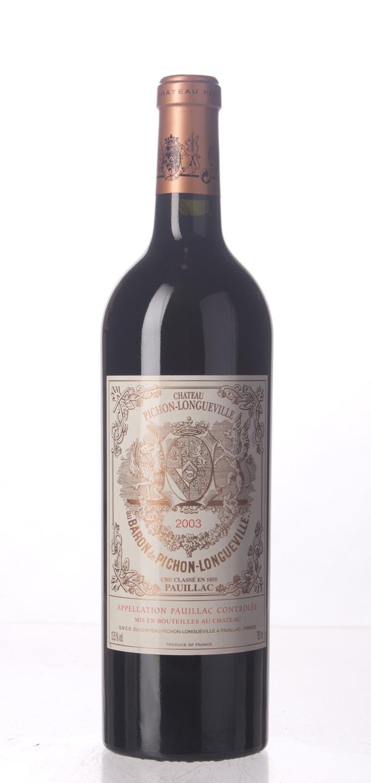 Pichon Longueville Baron 2003, 750mL (WA94, WS95) from The BPW - Merchants of rare and fine wines.