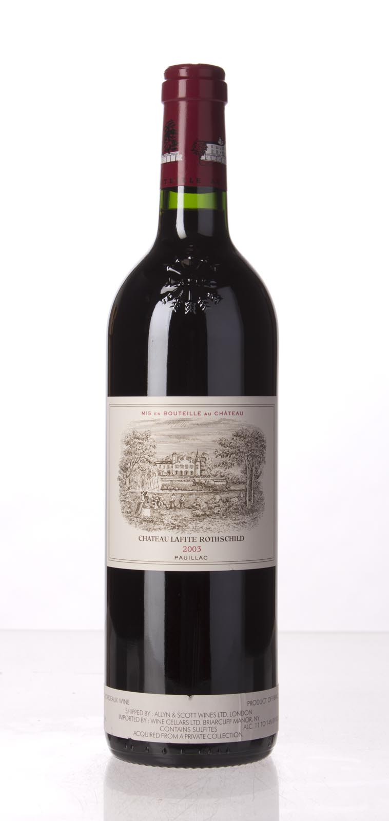 Lafite Rothschild 2003, 750mL (WA100) from The BPW - Merchants of rare and fine wines.