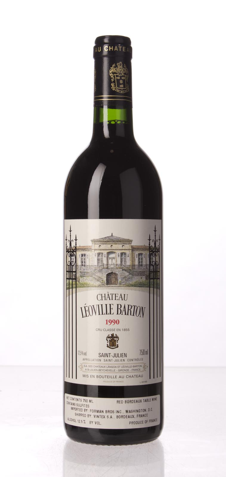 Leoville Barton 1990, 750mL (WA93+, WS93) from The BPW - Merchants of rare and fine wines.