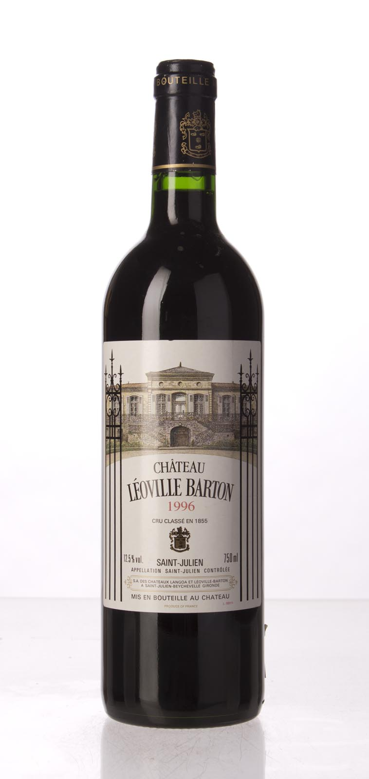 Leoville Barton 1996, 750mL (WA92, ST92) from The BPW - Merchants of rare and fine wines.