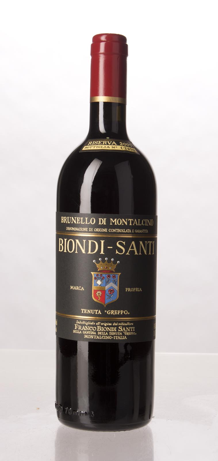 Biondi Santi Brunello di Montalcino Riserva 2007, 750mL (AG94, JS96, WA94, WS95) from The BPW - Merchants of rare and fine wines.