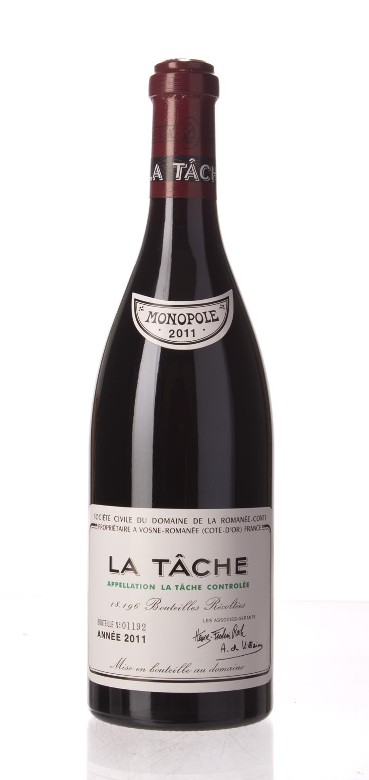 Domaine de La Romanee Conti la Tache 2011, 750mL (BH95-97, ST95-98) from The BPW - Merchants of rare and fine wines.