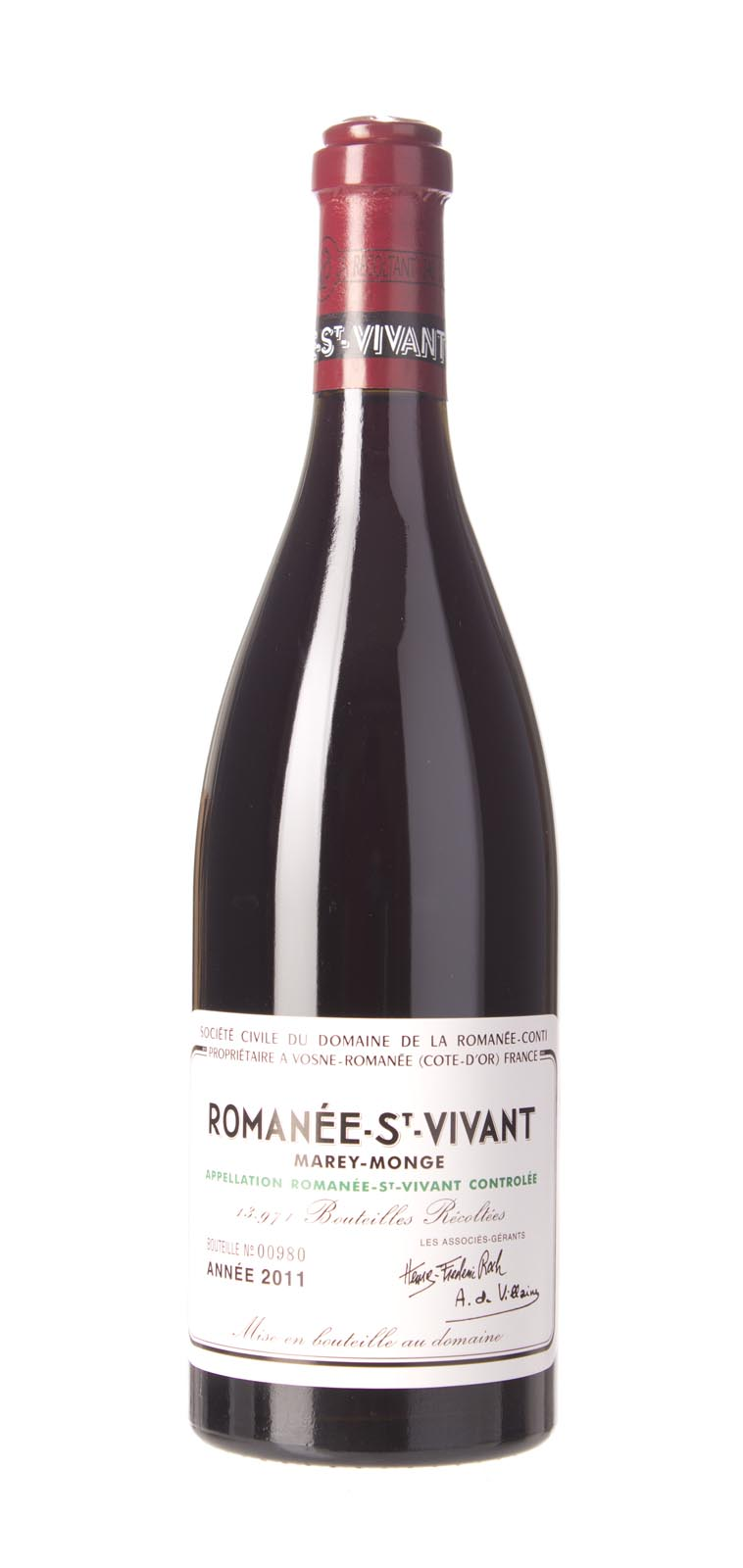 Domaine de La Romanee Conti Romanee St. Vivant 2011, 750mL (BH93-96, ST92-95) from The BPW - Merchants of rare and fine wines.