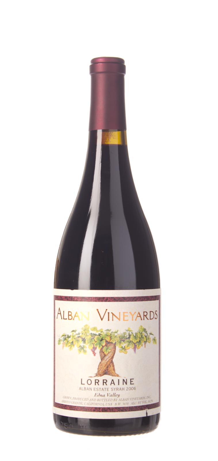 Alban Vineyards Syrah Lorraine Estate 2006, 750mL (WA100) from The BPW - Merchants of rare and fine wines.