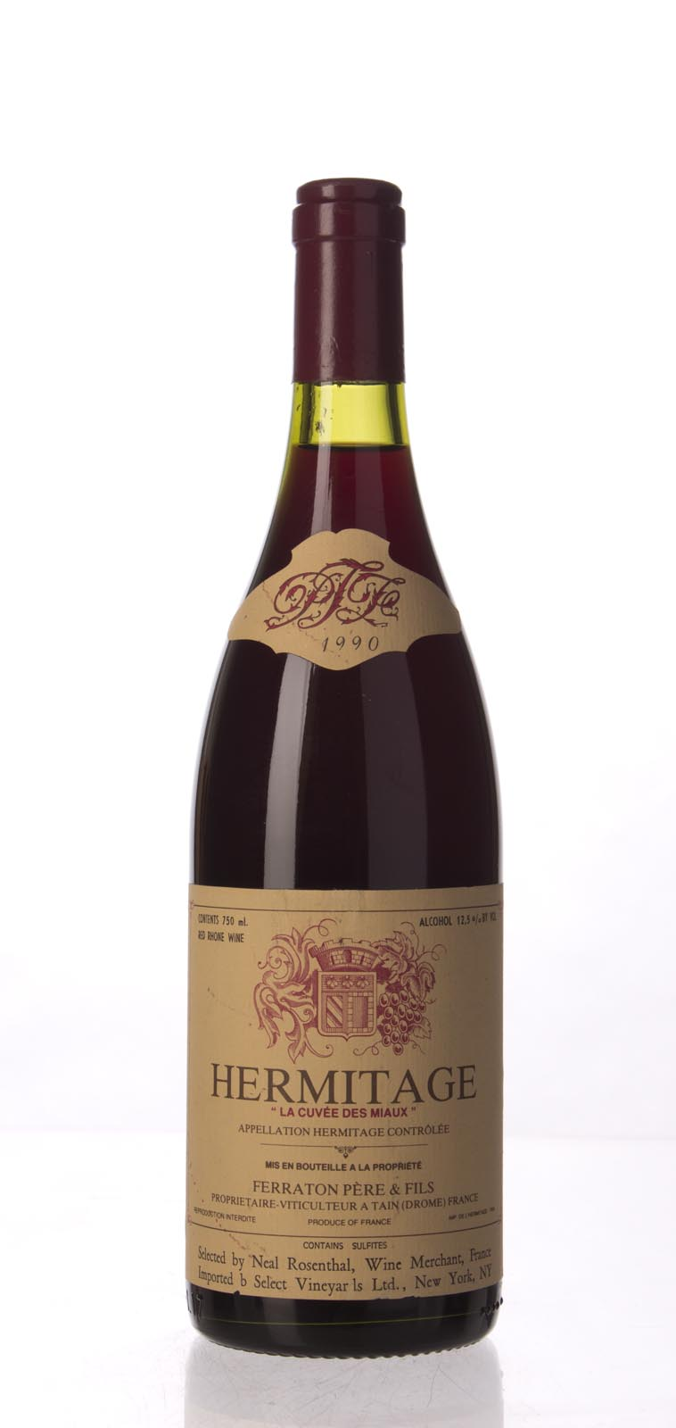 Ferraton Pere et Fils Hermitage Cuvee des Miaux 1990, 750mL (WA96) from The BPW - Merchants of rare and fine wines.