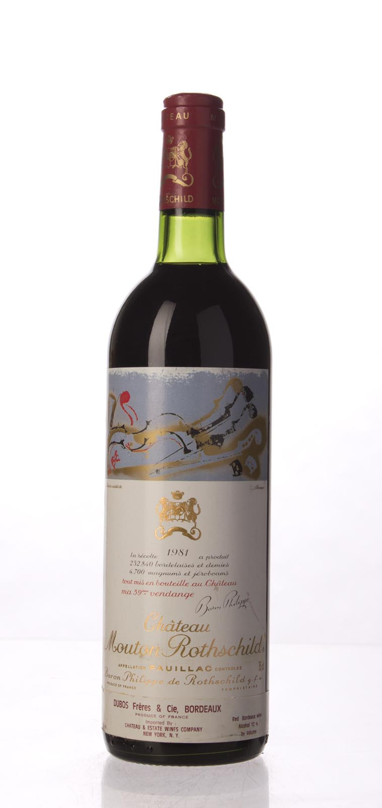 Mouton Rothschild 1981, 750mL (WS91) from The BPW - Merchants of rare and fine wines.