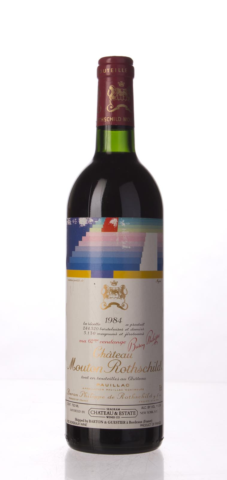 Mouton Rothschild 1984, 750mL (WS92) from The BPW - Merchants of rare and fine wines.