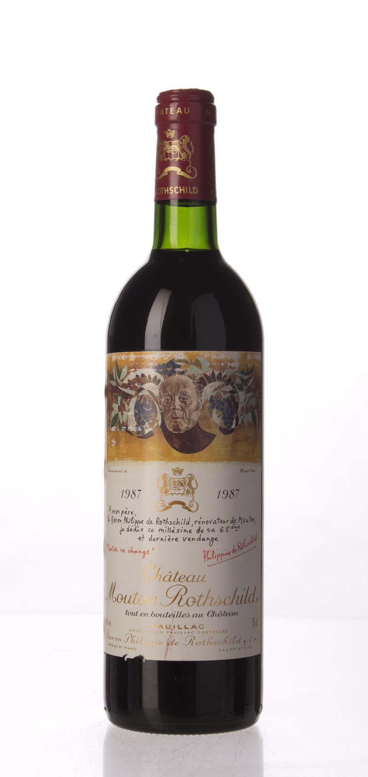 Mouton Rothschild 1987, 750mL (WA88) from The BPW - Merchants of rare and fine wines.