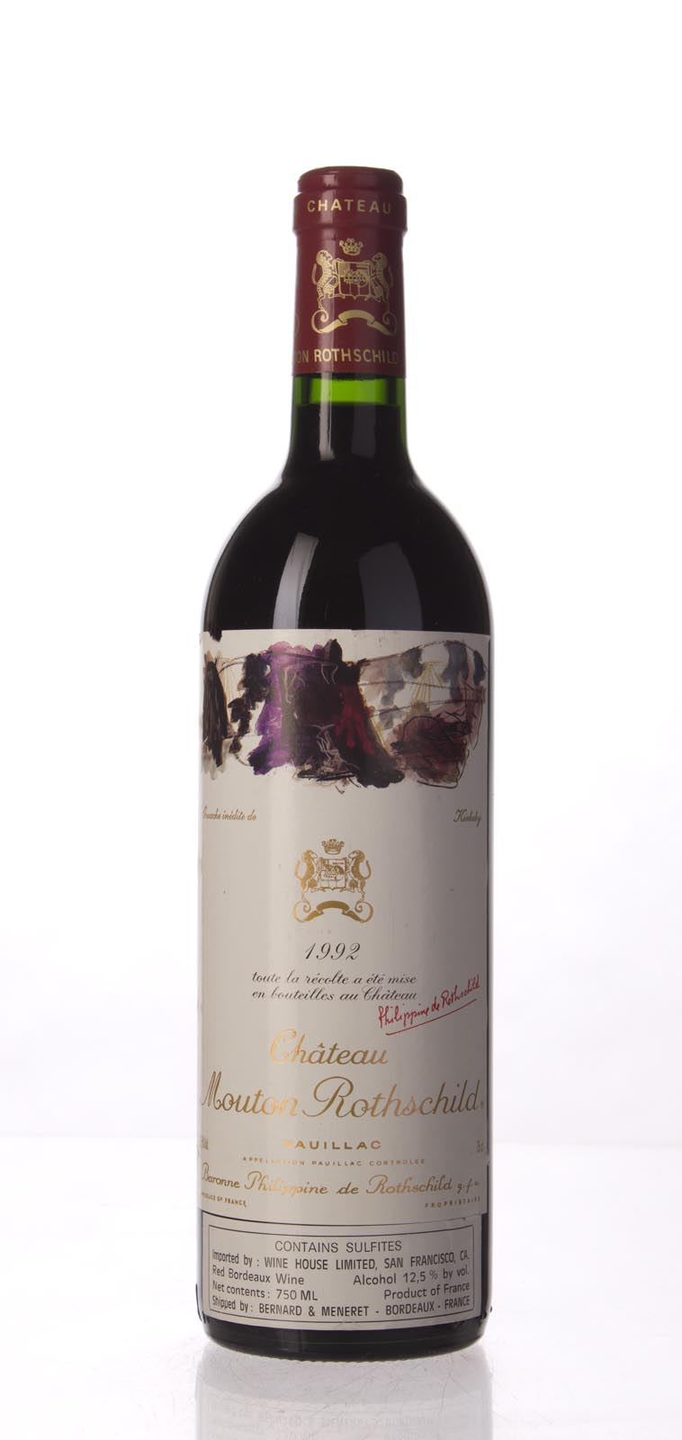 Mouton Rothschild 1992, 750mL (WA88) from The BPW - Merchants of rare and fine wines.
