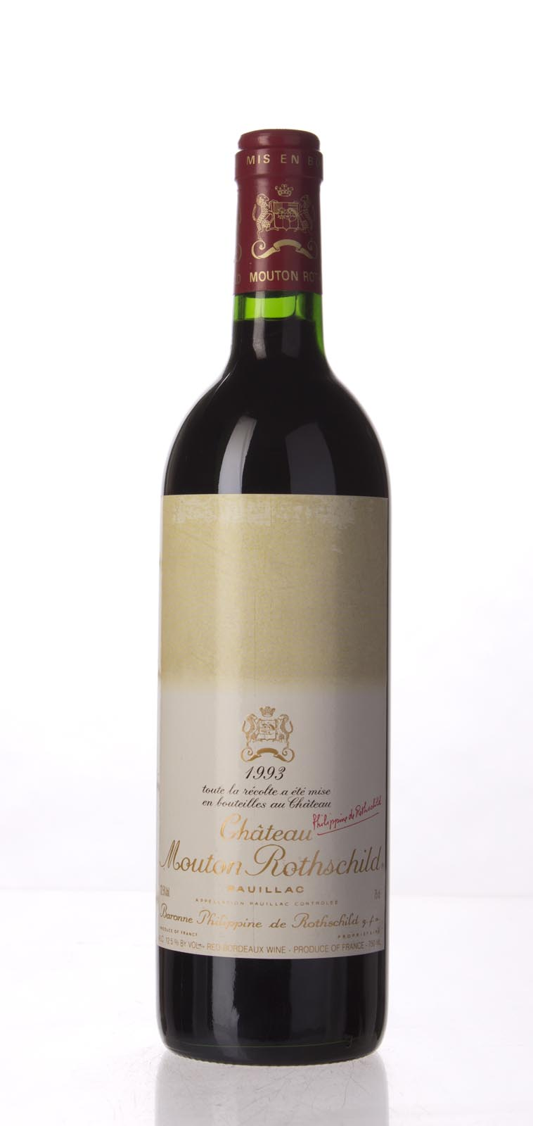 Mouton Rothschild 1993, 750mL (WA90) from The BPW - Merchants of rare and fine wines.