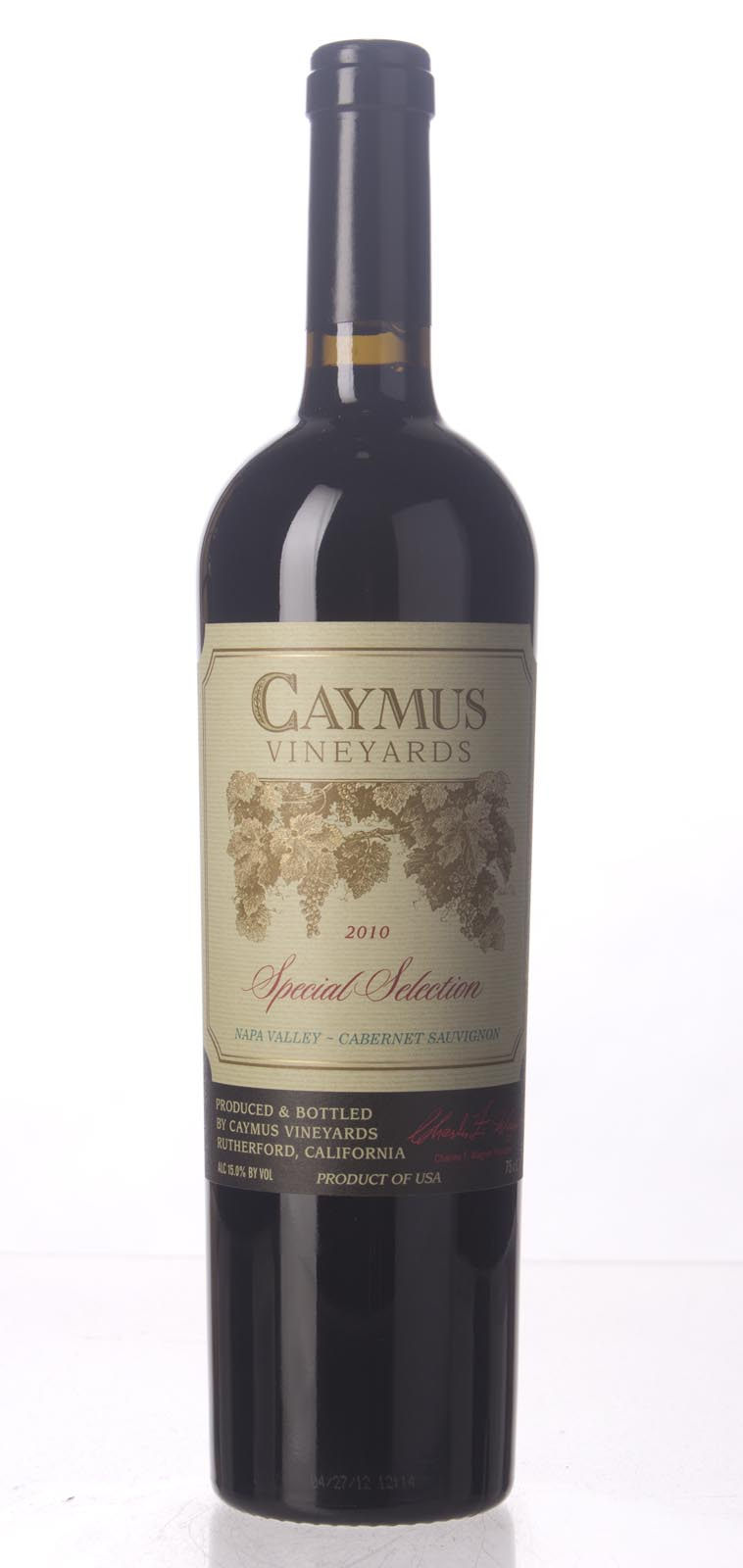Caymus Cabernet Sauvignon Special Selection 2010, 750mL (WA98, WS96) from The BPW - Merchants of rare and fine wines.