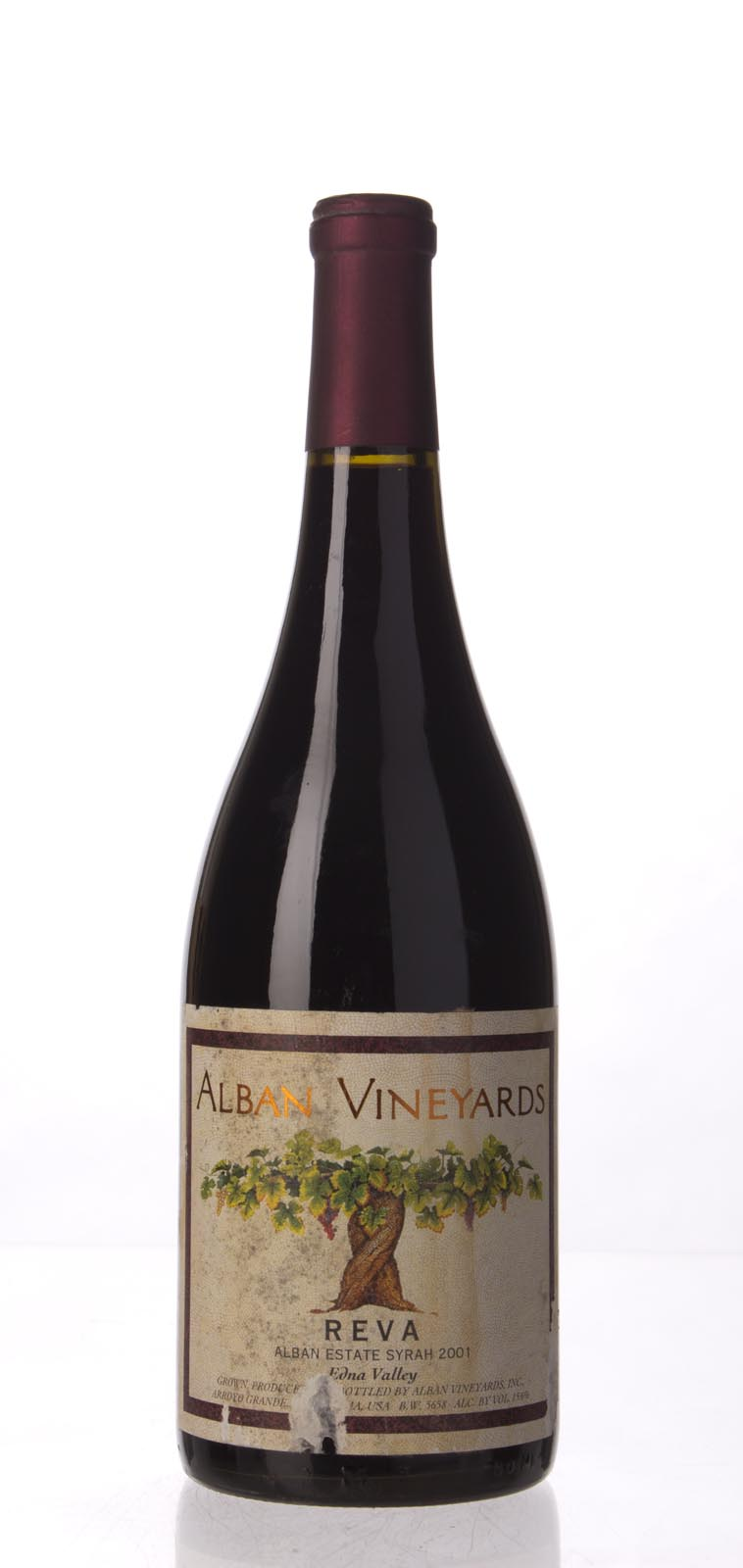 Alban Vineyards Syrah Reva Alban Estate Vineyard 2001, 750mL (WA93, WS94) from The BPW - Merchants of rare and fine wines.