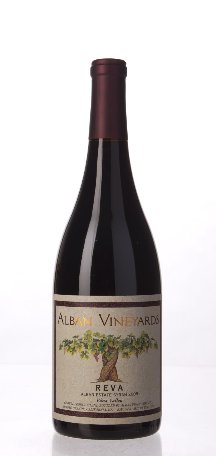 Alban Vineyards Syrah Reva Alban Estate Vineyard 2005, 750mL (WA96, WS94) from The BPW - Merchants of rare and fine wines.