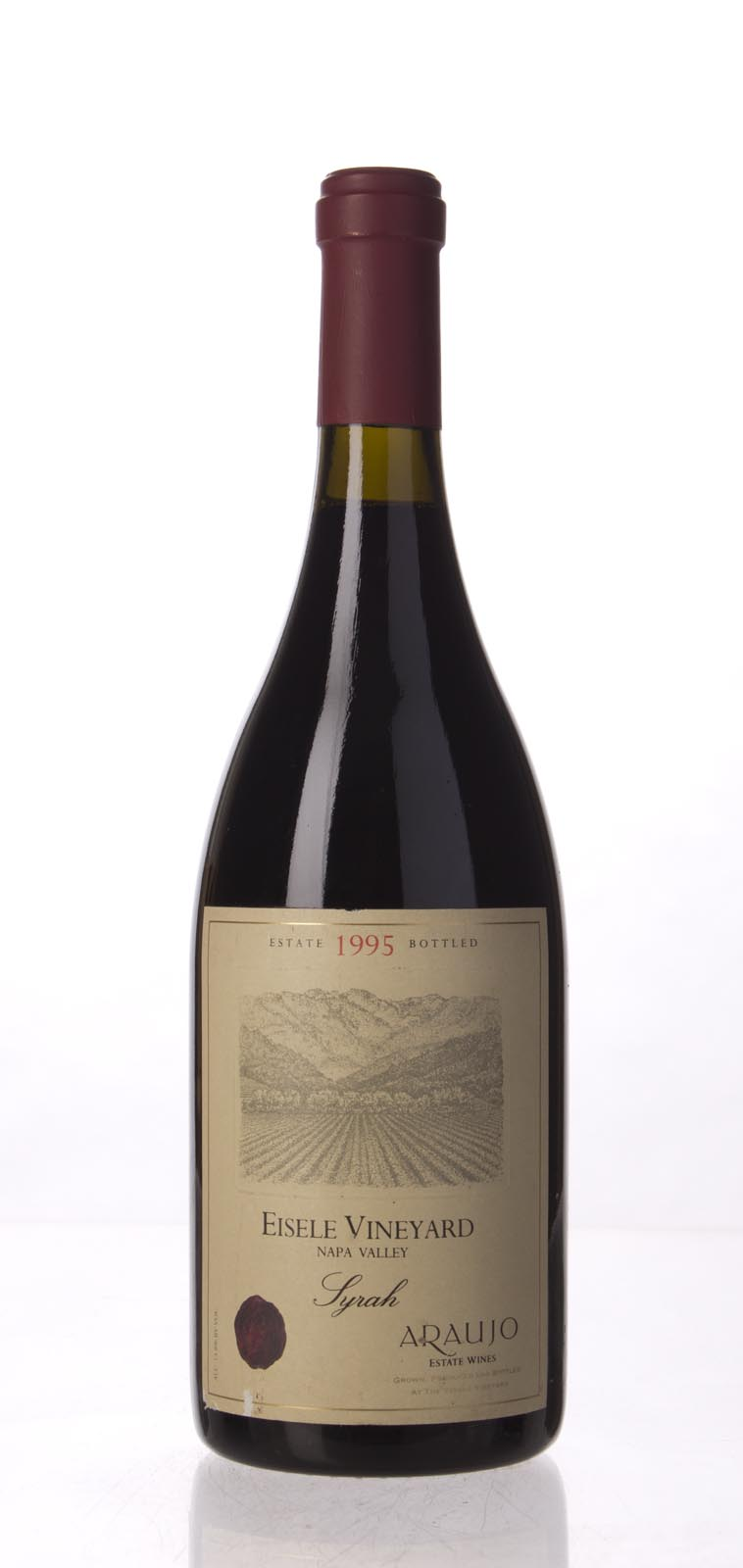 Araujo Estate Syrah Eisele Vineyard 1995, 750mL (WA97) from The BPW - Merchants of rare and fine wines.