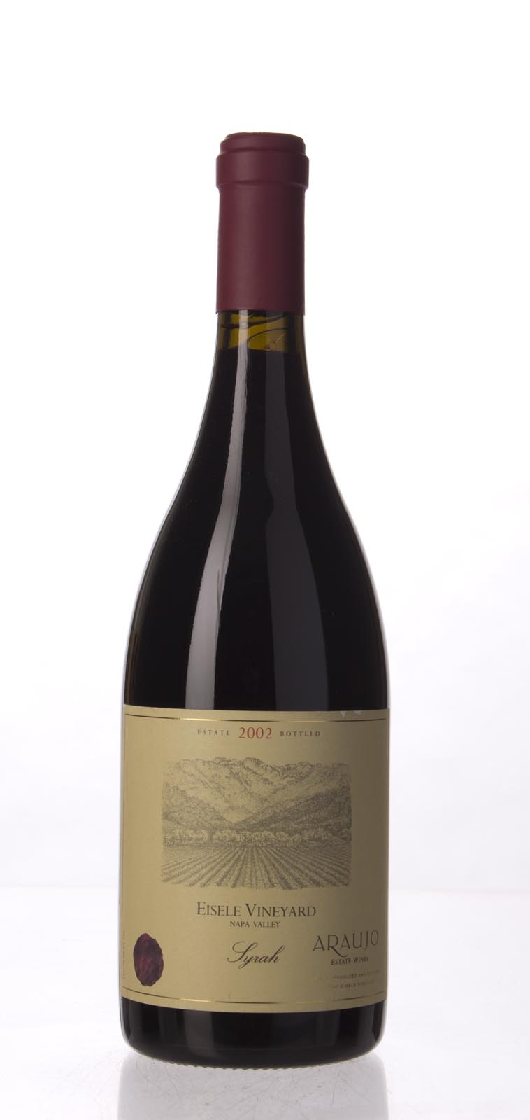 Araujo Estate Syrah Eisele Vineyard 2002, 750mL (WA95) from The BPW - Merchants of rare and fine wines.