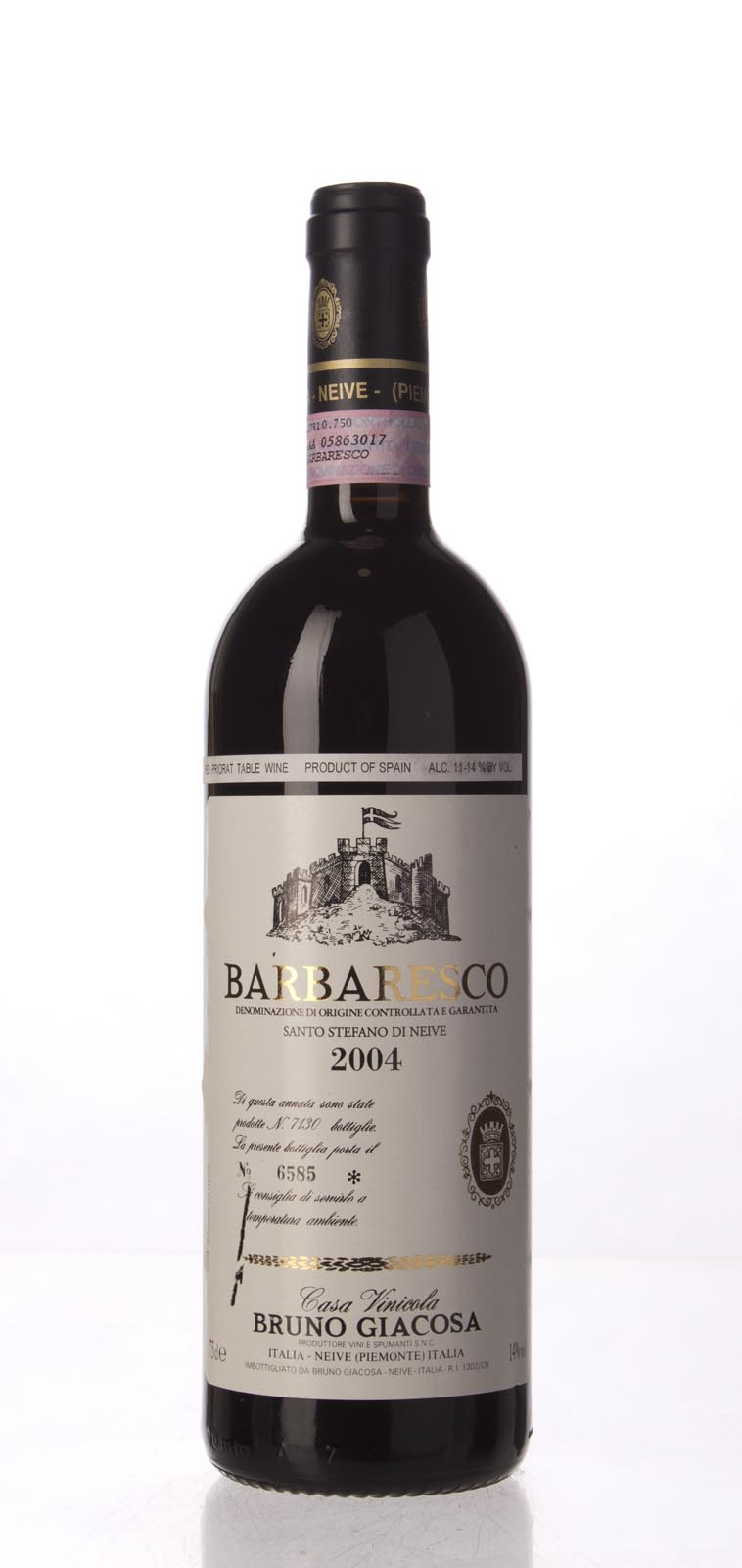 Bruno Giacosa Barbaresco Santo Stefano di Nieve 2004, 750mL (WA95, WS95) from The BPW - Merchants of rare and fine wines.