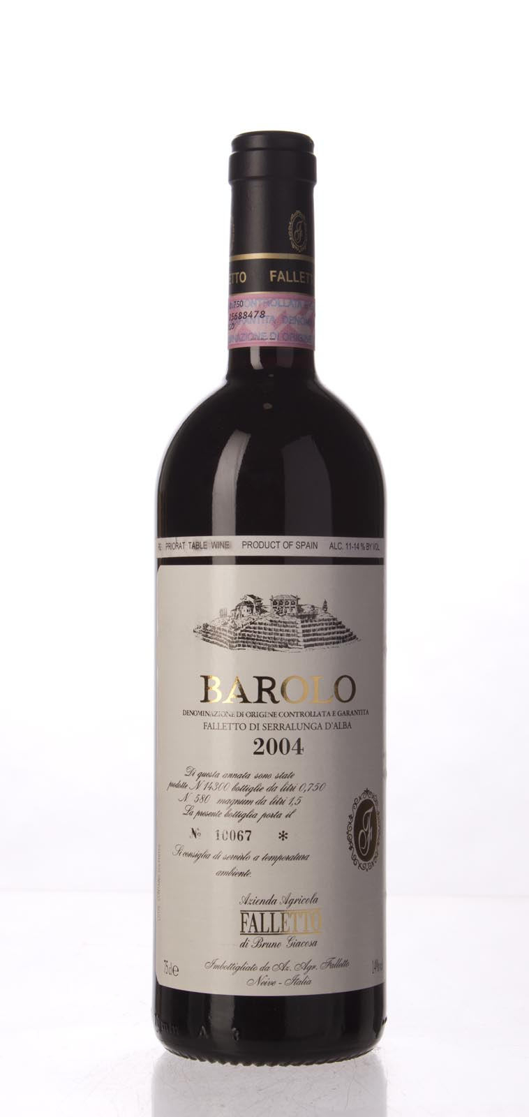 Bruno Giacosa Barolo Falletto 2004, 750mL (WA96, ST94) from The BPW - Merchants of rare and fine wines.