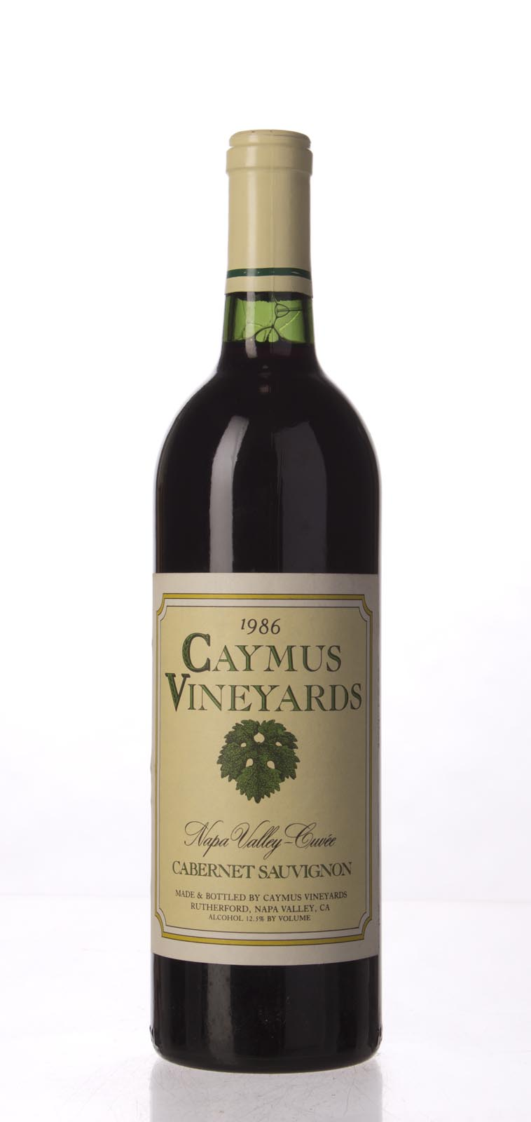 Caymus Cabernet Sauvignon Napa Valley 1986, 750mL (WS94) from The BPW - Merchants of rare and fine wines.