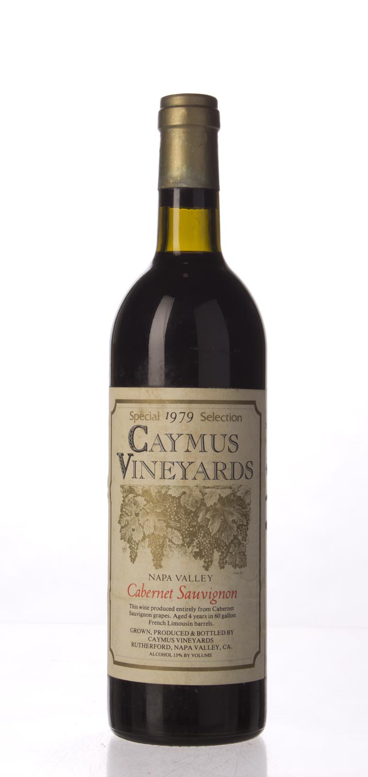 Caymus Cabernet Sauvignon Special Selection 1979, 750mL (WA92, WS93) from The BPW - Merchants of rare and fine wines.