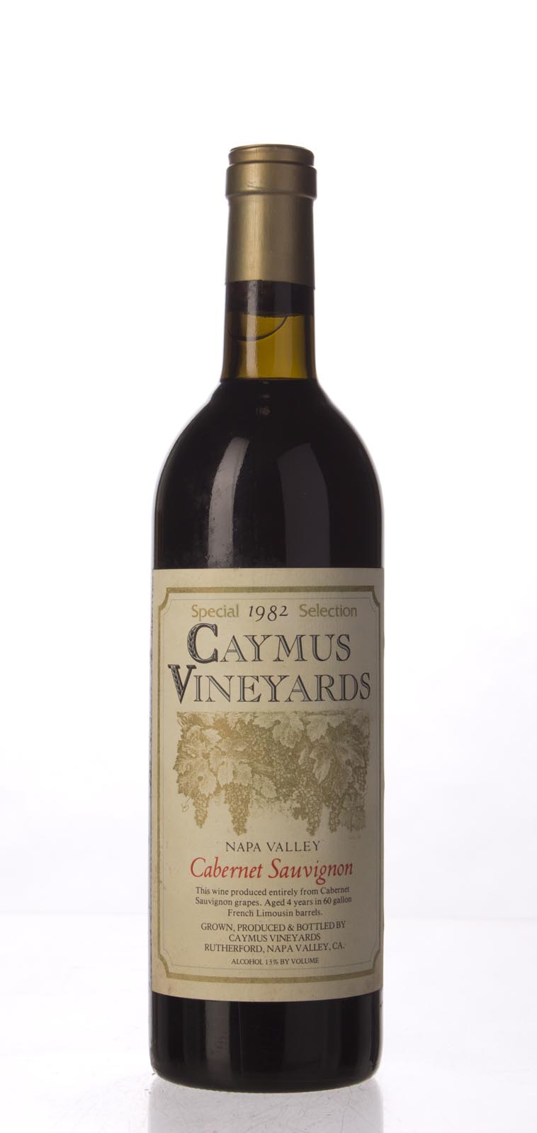 Caymus Cabernet Sauvignon Special Selection 1982, 750mL (WA88) from The BPW - Merchants of rare and fine wines.
