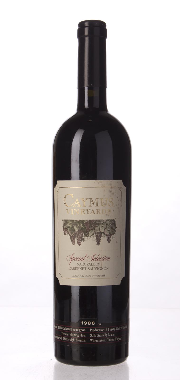 Caymus Cabernet Sauvignon Special Selection 1986,  (WS98) from The BPW - Merchants of rare and fine wines.