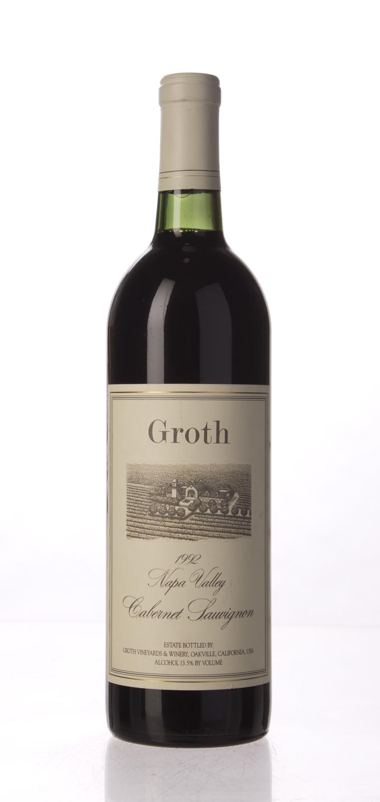 Groth Vineyards Cabernet Sauvignon Napa Valley 1992, 750mL (WS91) from The BPW - Merchants of rare and fine wines.