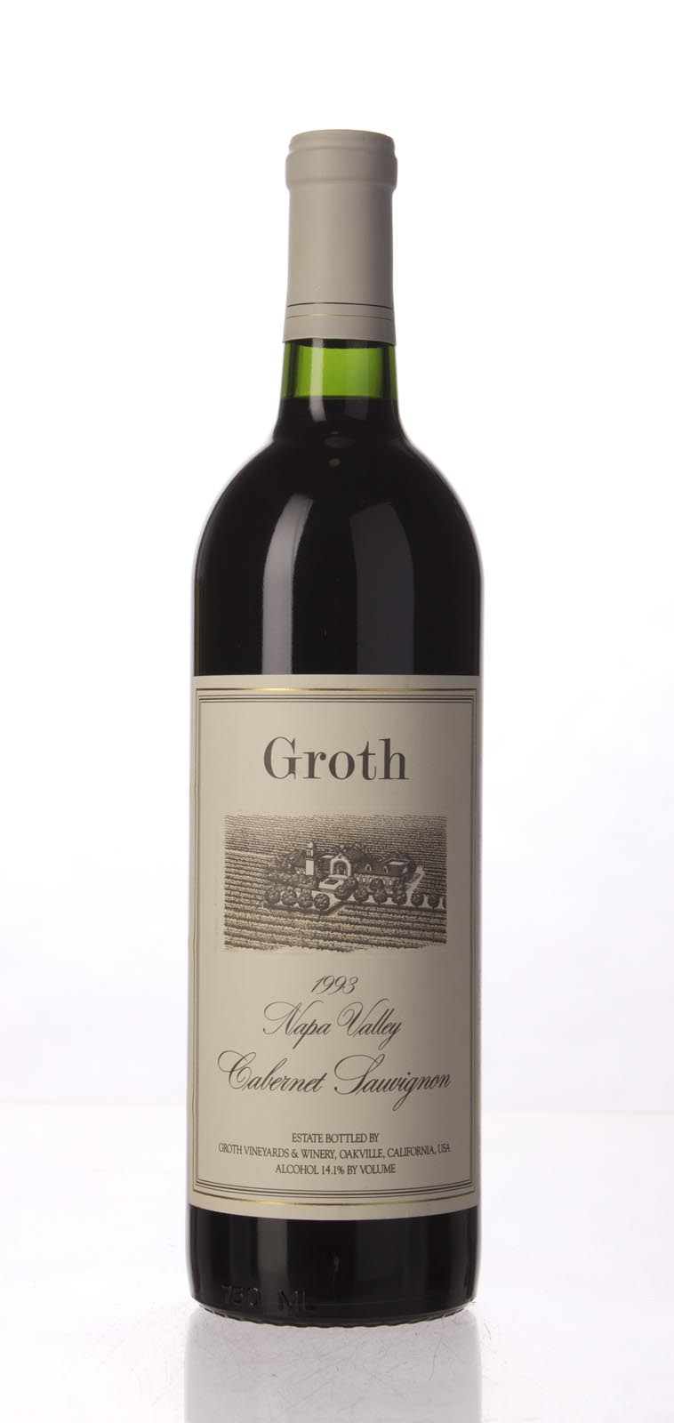 Groth Vineyards Cabernet Sauvignon Napa Valley 1993, 750mL () from The BPW - Merchants of rare and fine wines.