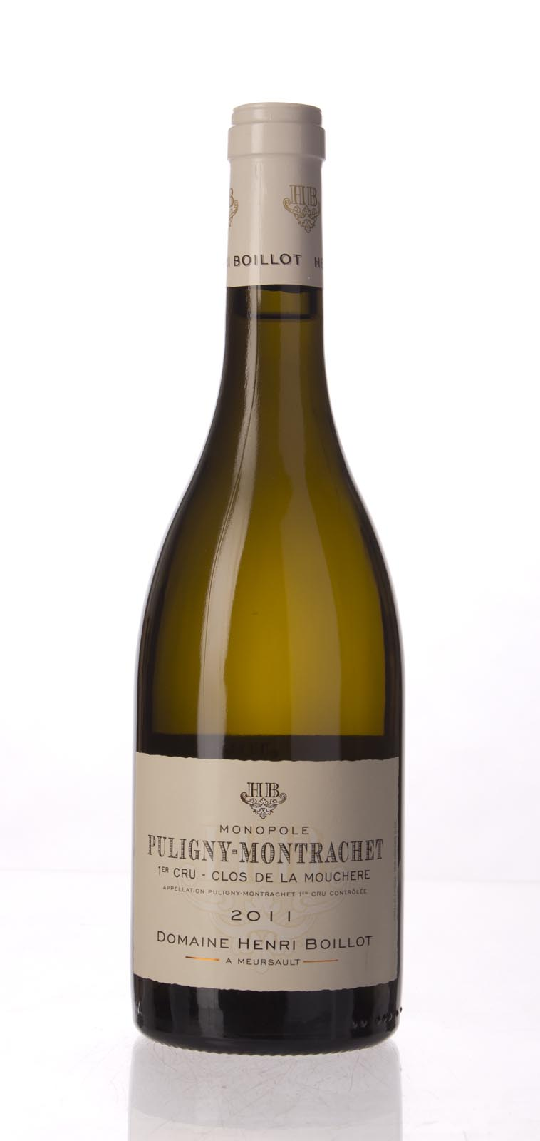 Henri Boillot Puligny Montrachet Clos de la Mouchere 2011, 750mL (BH94, WA93-95, ST93) from The BPW - Merchants of rare and fine wines.