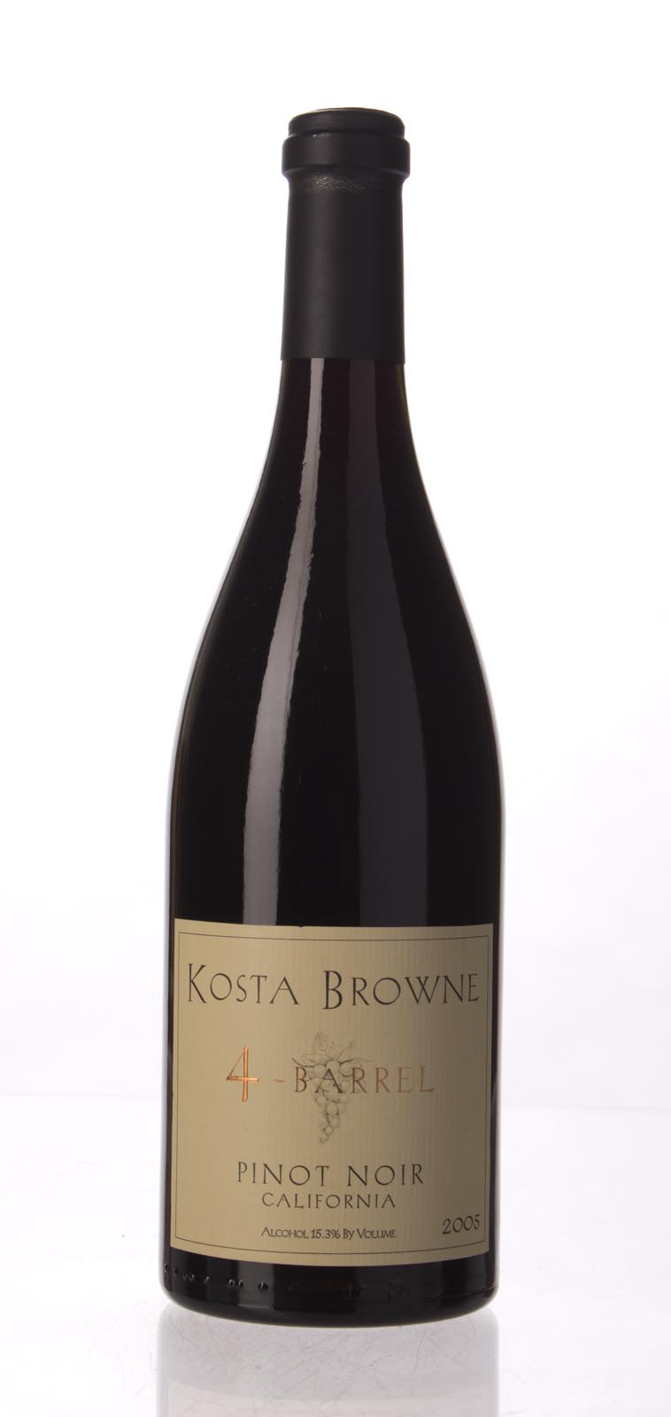 Kosta Browne Pinot Noir 4 Barrel 2005, 750mL (WS96) from The BPW - Merchants of rare and fine wines.
